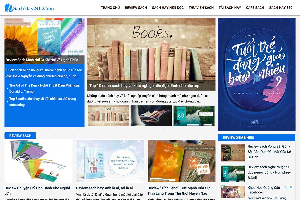Giới thiệu về Sách Hay 24H - Đọc sách hay online, review sách hay
