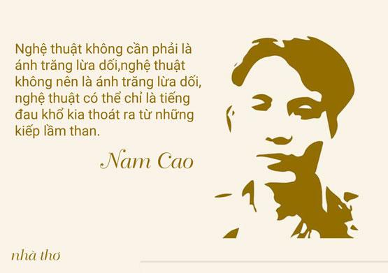 Quan điểm sáng tác của nhà văn Nam Cao