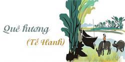 Bình giảng bài thơ Quê hương của Tế Hanh