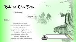 Bình giảng bài thơ Côn Sơn ca - Nguyễn Trãi